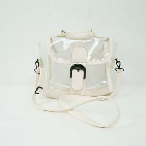 Handbags - Clear Satchel Bag Purse Shoulder Faux Leather